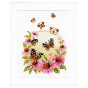Эхинацея и бабочки Набор для вышивания Vervaco PN-0021838