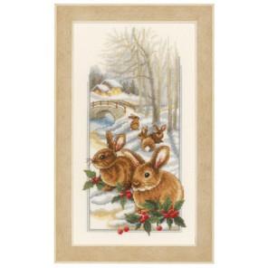 Кролики на снегу Набор для вышивания Vervaco PN-0150174