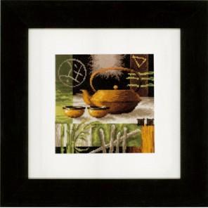 Азиатская чайная церемония - желтый чайник Набор для вышивания Vervaco PN-0148120
