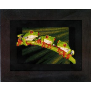 Красноглазые древесные лягушки Набор для вышивания Vervaco PN-0146866