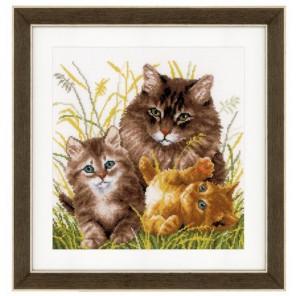 Кошачье семейство Набор для вышивания Vervaco PN-0156114