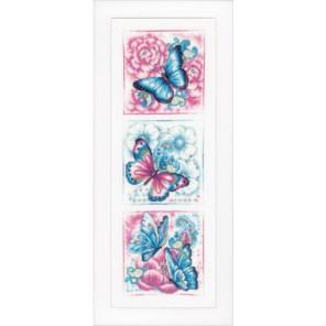Синие бабочки Набор для вышивания Vervaco PN-0147044