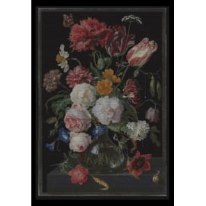 Цветы в стеклянной вазе Набор для вышивания Thea Gouverneur 785.05