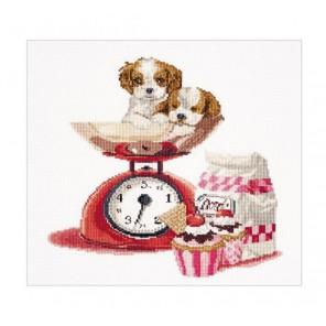 Кекс и щенки Набор для вышивания Thea Gouverneur 741A