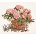 Розовые Гортензии Набор для вышивания Thea Gouverneur
