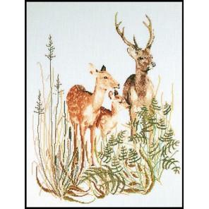 Семья оленей Набор для вышивания Thea Gouverneur 938