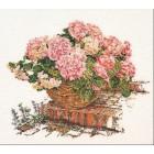 Розовые гортензии Набор для вышивания Thea Gouverneur 2047