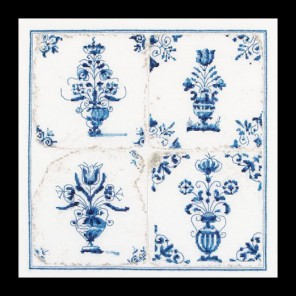 Старинная плитка, цветы в вазе Набор для вышивания Thea Gouverneur