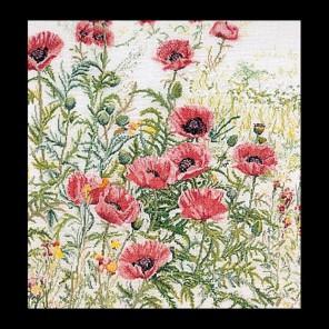 Набор для вышивания Розовые маки Набор для вышивания Thea Gouverneur 2061