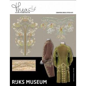 Музей Rijks habit a la francaise c. 1775-1785 Набор для вышивания Thea Gouverneur