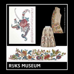 Музей Rijks Юбка c. 1700-1800 / Жилет c. 1730-1739 Набор для вышивания Thea Gouverneur