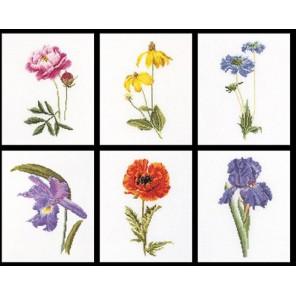 Шесть цветочных исследований Набор для вышивания Thea Gouverneur 3085
