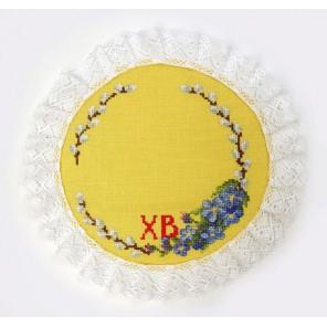 Набор для изготовления салфетки Пасхальный венок Набор для вышивания Марья Искусница 21.003.07