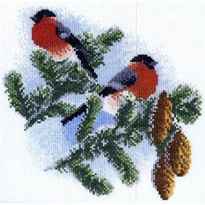 Снегири Набор для вышивания Марья Искусница