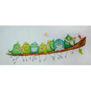 Веселые птички Elina Ellis illustration Набор для вышивания Марья Искусница 15.001.22