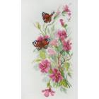 Цветы и бабочки по рисунку О. Цуриной Набор для вышивания Марья Искусница 04.011.02