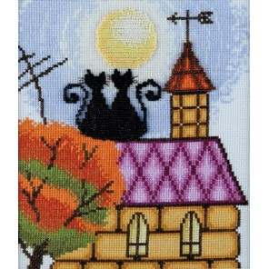Кошки на крыше по рисунку О. Куреевой Набор для вышивания Марья Искусница 13.002.02
