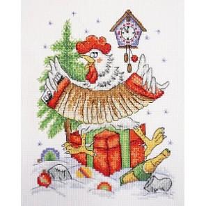 Новогоднее кукареку Набор для вышивания Марья Искусница 01.033.27