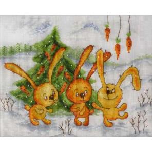 Заячья радость по рисунку В. Кирдий Набор для вышивания Марья Искусница 15.001.05