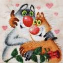 Счастливы вместе по рисунку Л. Бартенева Набор для вышивания Марья Искусница
