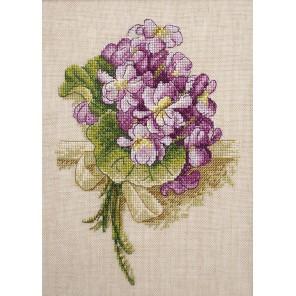 Букет фиалок по рисунку К. Кляйн Набор для вышивания Марья Искусница 04.001.08