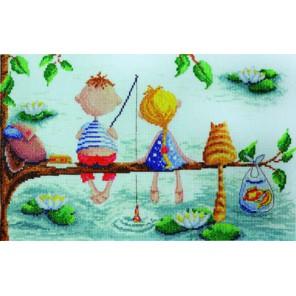 Рыбалка Elina Ellis illustration Набор для вышивания Марья Искусница 15.001.15