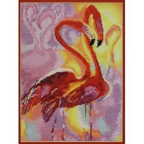 Розовые фламинго по картине В. Пивень Набор для вышивания Марья Искусница 03.010.06