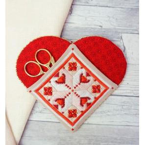 Набор для изготовления чехла Нужное сердце Набор для вышивания Марья Искусница 21.002.16
