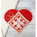 Набор для изготовления чехла Нужное сердце Набор для вышивания Марья Искусница