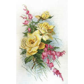 Розы и дицентра по рисунку К. Кляйн Набор для вышивания Марья Искусница 06.002.41