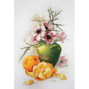 Анемоны и апельсины по картине К. Кляйн Набор для вышивания Марья Искусница 06.002.56