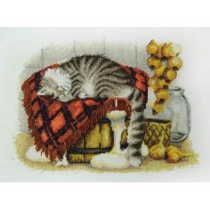 Теплое местечко по рисунку И. Зенюк Набор для вышивания Марья Искусница