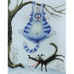 Страшный зверь по рисунку И.Зенюк Набор для вышивания Марья Искусница