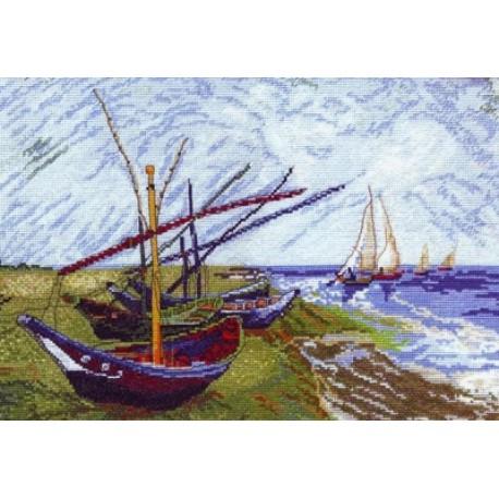 Лодки в Сен-Мари по картине Ван Гога Набор для вышивания Марья Искусница 06.003.01
