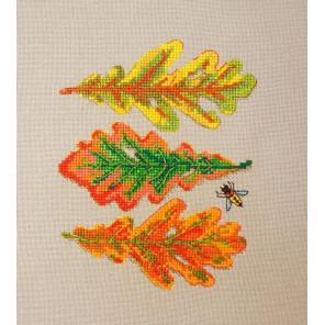 Дубовые листья Набор для вышивания Марья Искусница