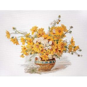 Желтые ромашки Набор для вышивания Марья Искусница