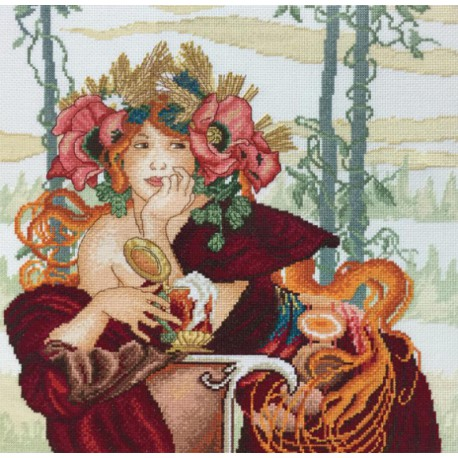 Красавица Осень по рисунку А. Муха Набор для вышивания Марья Искусница 04.010.03