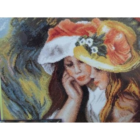 Две читающие девочки по картине Ренуара Набор для вышивания Марья Искусница 06.001.09