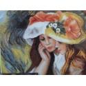 Две читающие девочки по картине Ренуара Набор для вышивания Марья Искусница