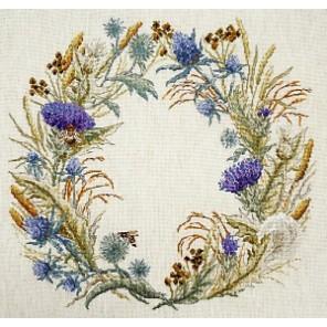 Венок чертополоха (может использоваться для создания подушки) Набор для вышивания Марья Искусница 06.002.60