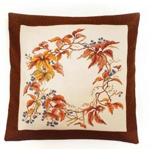 Дикий виноград (набор для изготовления подушки) Набор для вышивания Марья Искусница 14.001.06