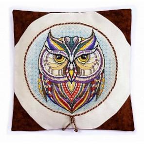 Набор для изготовления наволочки Сова Набор для вышивания Марья Искусница 14.001.14