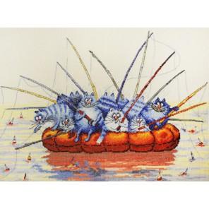 Ловись рыбка большая по рисунку И. Зенюк Набор для вышивания Марья Искусница