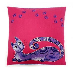 Коте фиолетовый (может использоваться для создания подушки) Набор для вышивания Марья Искусница 14.001.17