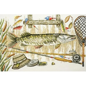 Время ловить рыбу Набор для вышивания Марья Искусница 11.006.01