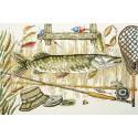 Время ловить рыбу Набор для вышивания Марья Искусница