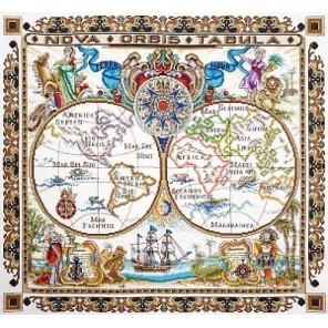 Карта мира Набор для вышивания Марья Искусница 11.005.03