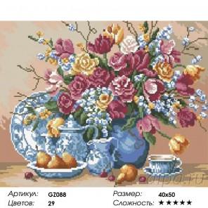 Сложность и количество цветов  Летний натюрморт Алмазная мозаика на подрамнике GZ088
