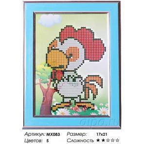 Сложность и количество цветов  Петушок Алмазная частичная мозаика с рамкой MX083