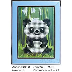Панда Алмазная частичная мозаика с рамкой